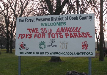 Toys for Tots parade in Chicago 2012