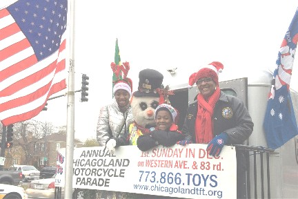 Toys for Tots parade in Chicago 2016