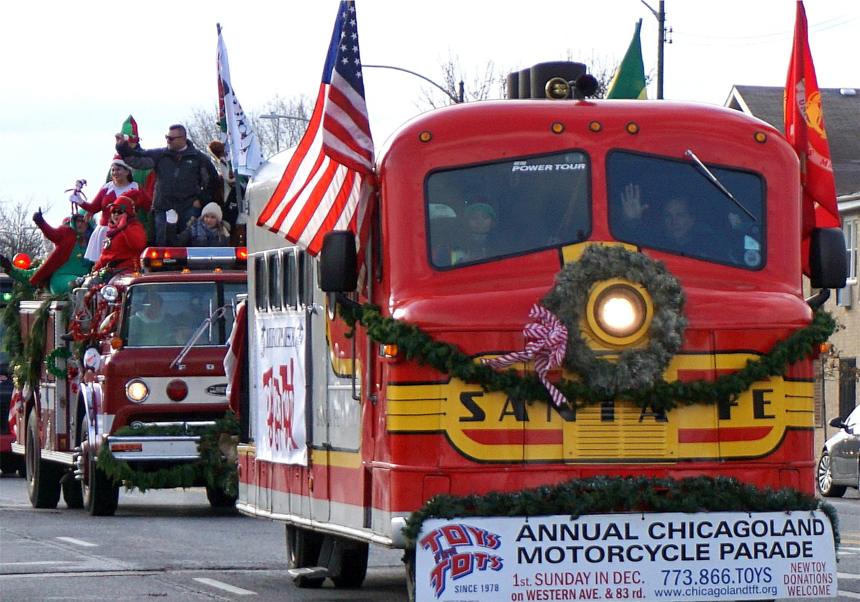 Toys for Tots parade in Chicago 2019